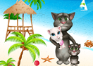 Talking Tom at the Beach