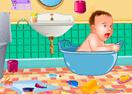 Baby Bathroom Cleanup