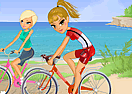 Maria and Sofia Go Biking