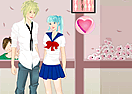 School Couple Dress Up